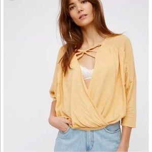 Free People Double Knot Gauze Open Front Top